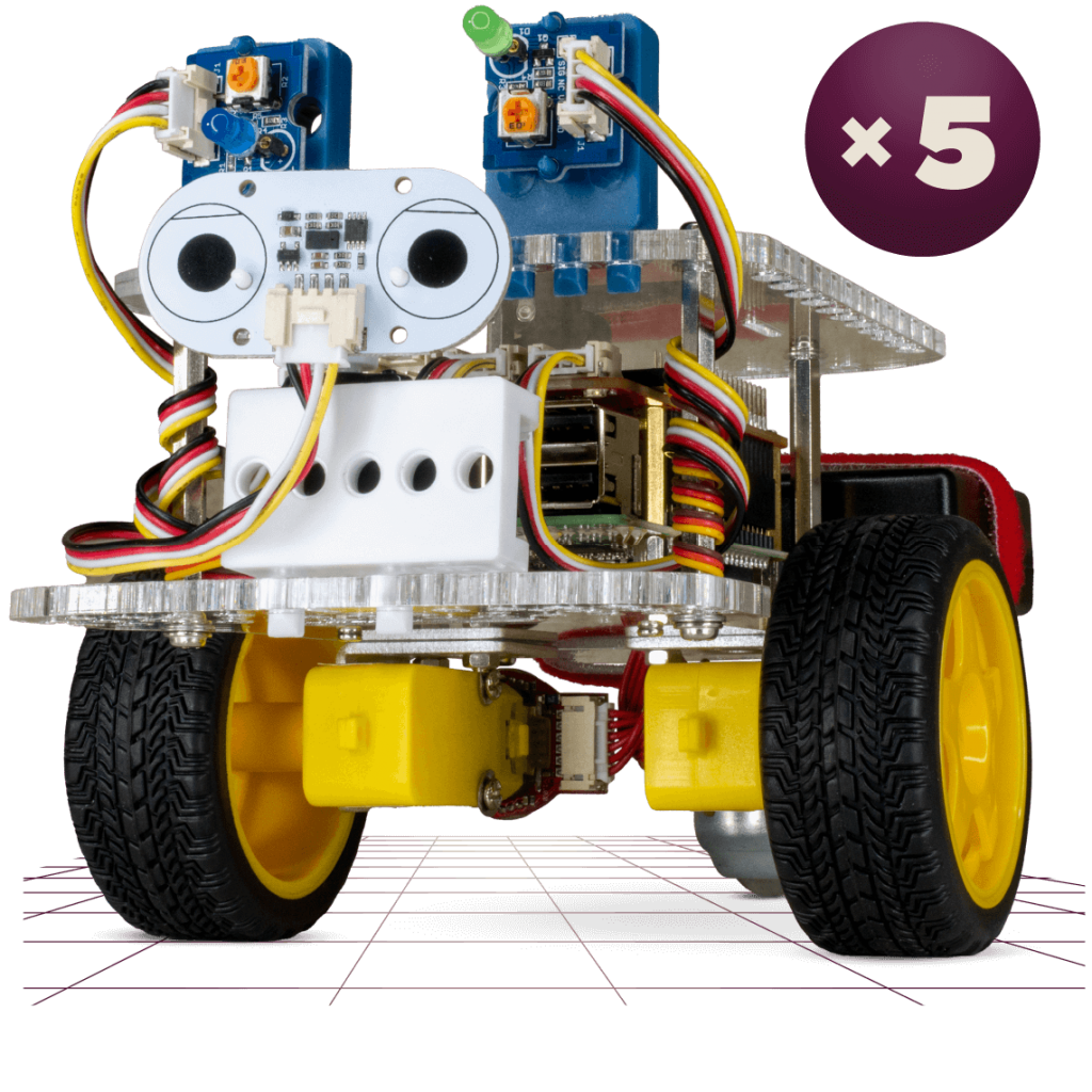 GoPiGo for Groups - Five GoPIGo Raspberry Pi Robots