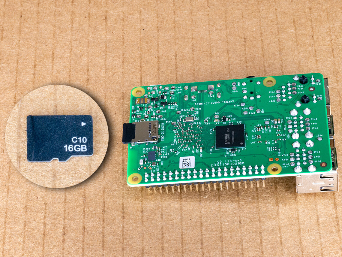 Insert microSD card into Raspberry Pi - only one orientation works.