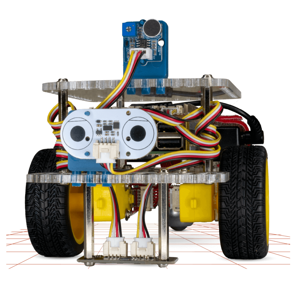 PyBox robot and add on sensors - line follower- distance sensor - loudness sensor